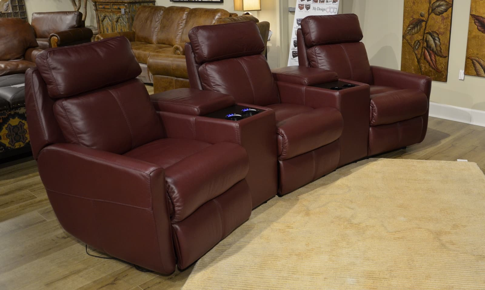 Where can I sit in PremiereHTS Home Theater Seating?